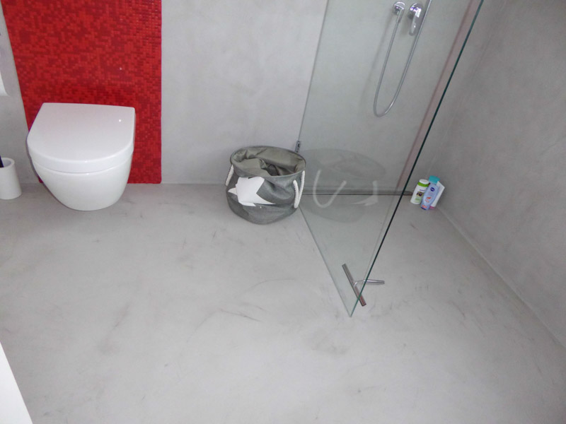 Toilet Beton Cire : Beton floor beton cire